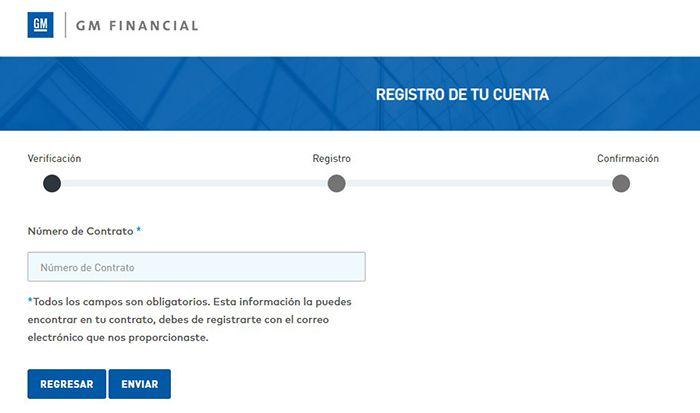 registro estado de cuenta GM Financial