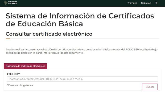 certificado de secundaria sep
