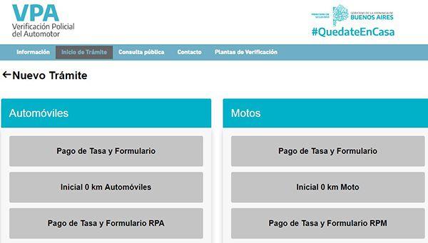 automoviles pago de tasa y formulario rpa