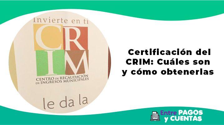 Certificación del CRIM