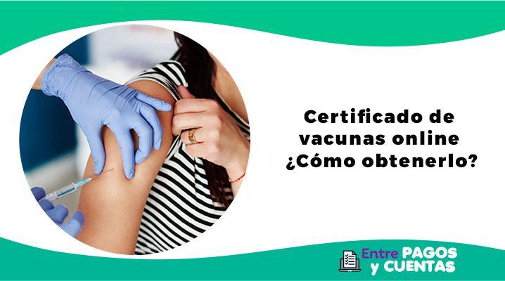 certificado de vacunas online