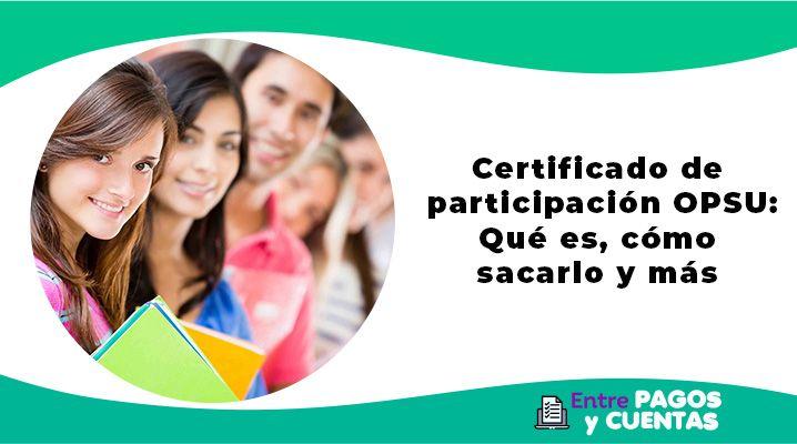 Certificado de participación OPSU