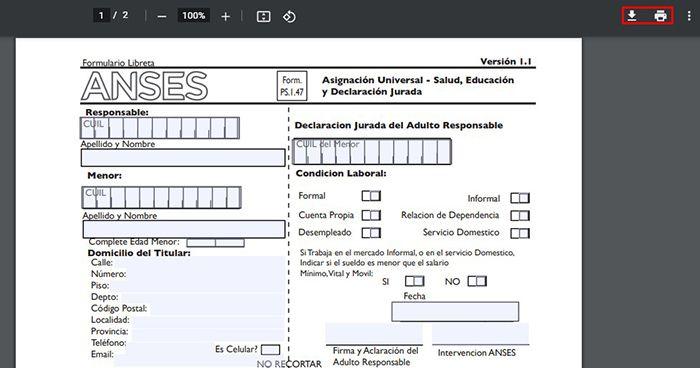 Cómo descargar e imprimir formulario 1.47