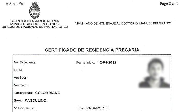 imprimir certificado de residencia precaria