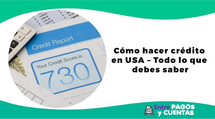 Cómo hacer crédito en USA