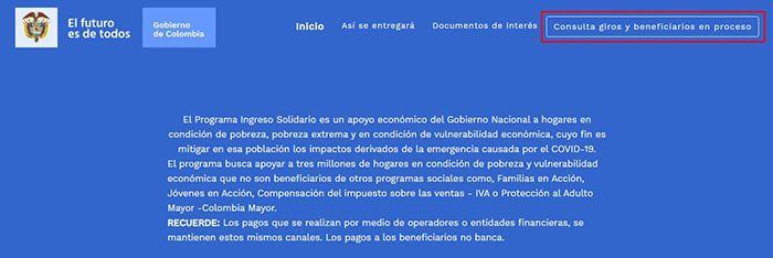 formulario ingreso solidario covid 19 dnp