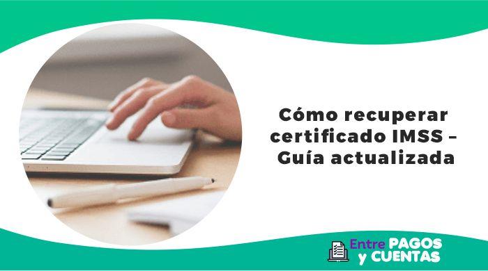 Recuperar certificado IMSS