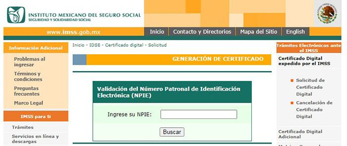 como recuperar certificado imss