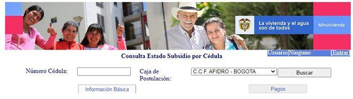 consulta tu subsidio por cédula de minvivienda