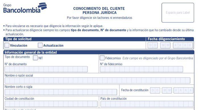 requisitos para abrir una cuenta empresarial en bancolombia